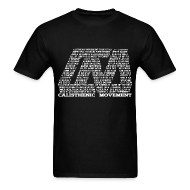 T-Shirts ~ Men's T-Shirt ~ CM Logo from text white