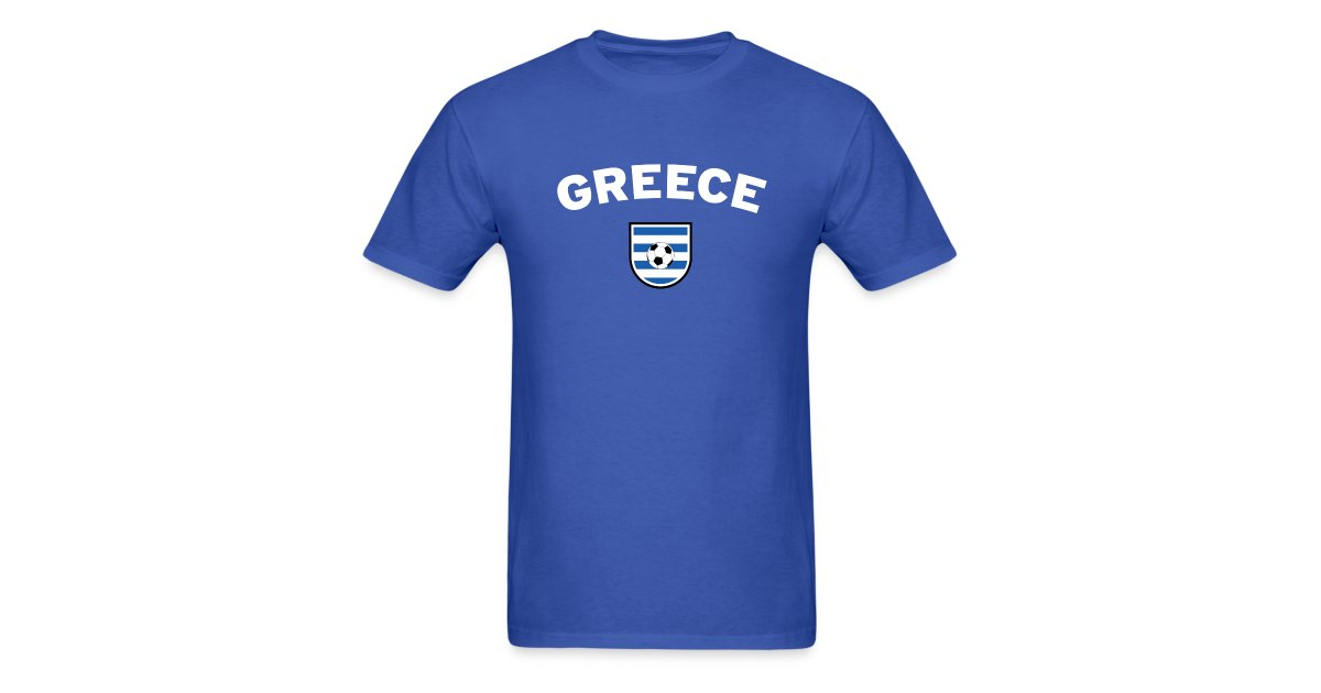 best service 68acd 06fe8 World Cup Football t-shirts the way they were meant to be | Greece Football  Supporter T-Shirt - Mens T-Shirt