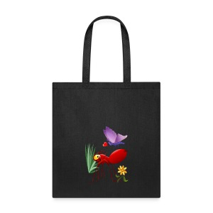Fire Ant and Purple Butterfly-Love is in the air. - Tote Bag