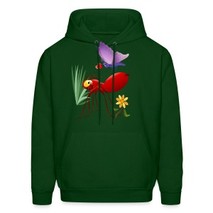 Fire Ant and Purple Butterfly-Love is in the air. - Men's Hoodie