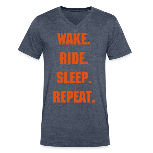 Repeat - Men's V-Neck T-Shirt by Canvas