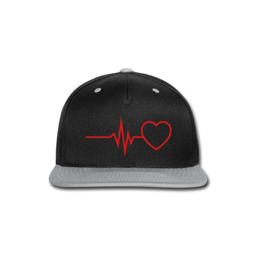 Heartbeat  - Snap-back Baseball Cap