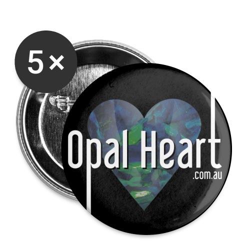 Opal Heart Buttons - Large Buttons