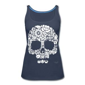 Women's Floral Skull Tank - Women's Premium Tank Top