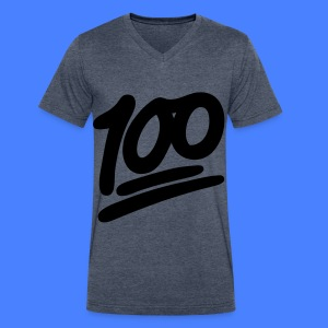 1 to 100 T-Shirts - Men's V-Neck T-Shirt by Canvas