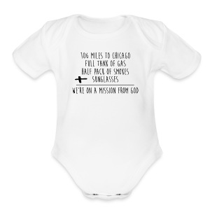 We're On A Mission - Short Sleeve Baby Bodysuit