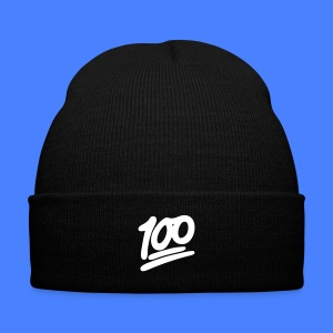 1 to 100 Caps - Knit Cap with Cuff Print