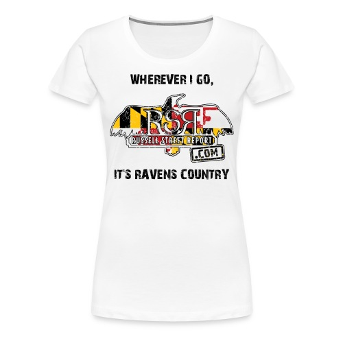 Ravens Country RSR Women's Black Text - Women's Premium T-Shirt