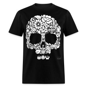 Men's Floral Skull Shirt - Men's T-Shirt