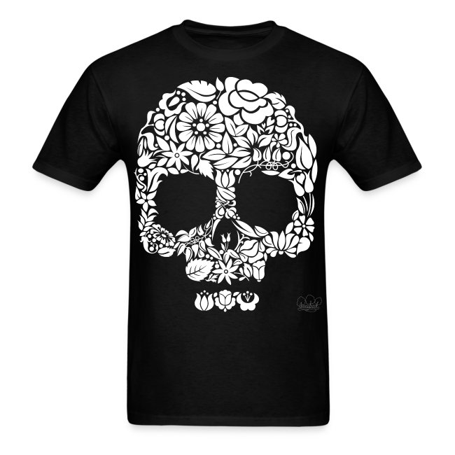 Men's Floral Skull Shirt