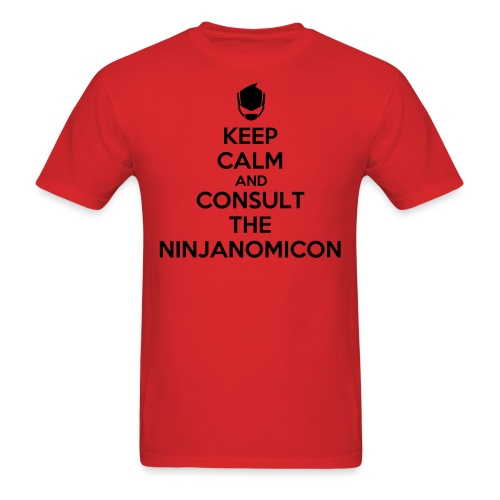 RC9GN Keep Calm - Black on Red Tee - Men's T-Shirt