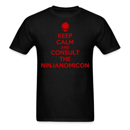 RC9GN Keep Calm - Red on Black Tee - Men's T-Shirt