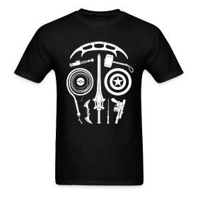 Sci-Fi Weapon Skull T-Shirt ~ 351