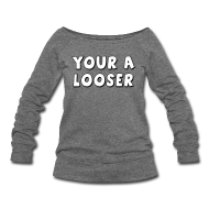 Long Sleeve Shirts ~ Women's Wideneck Sweatshirt ~ Article 16045326