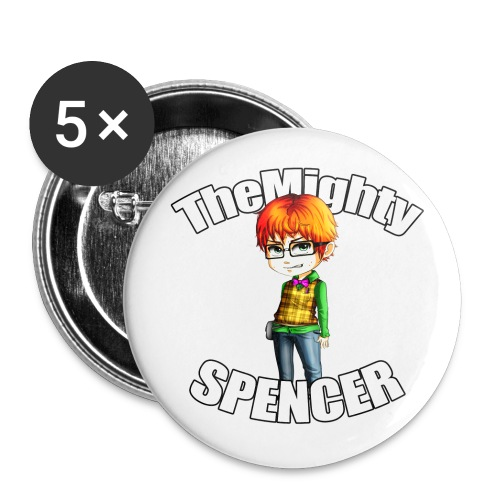 The Mighty Spencer Buttons - Buttons large 2.2'' (5-pack)