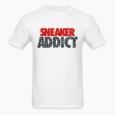 sneaker addict text cement T-Shirts