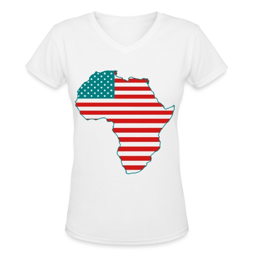 Somewhere In America ID Hoodie - Women's V-Neck T-Shirt