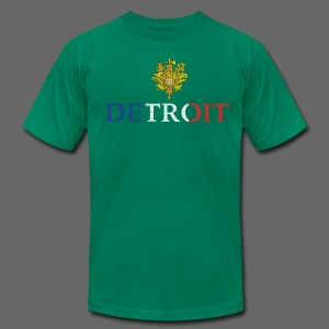 Detroit French COA - Men's T-Shirt by American Apparel