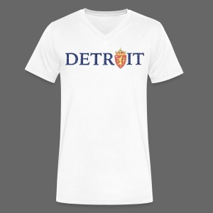 Detroit Norway COA - Men's V-Neck T-Shirt by Canvas
