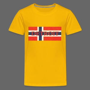 Detroit Norway Flag - Kids' Premium T-Shirt