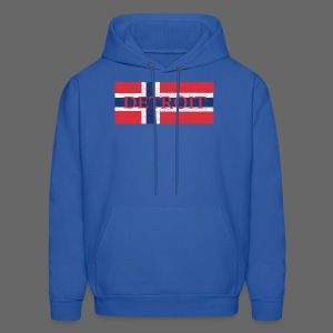 Detroit Norway Flag - Men's Hoodie