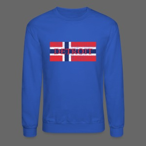 Detroit Norway Flag - Crewneck Sweatshirt