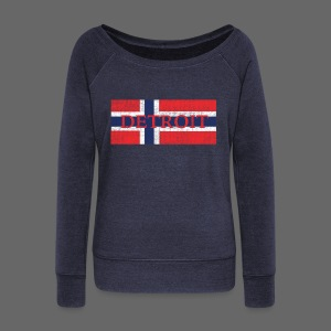 Detroit Norway Flag - Women's Wideneck Sweatshirt