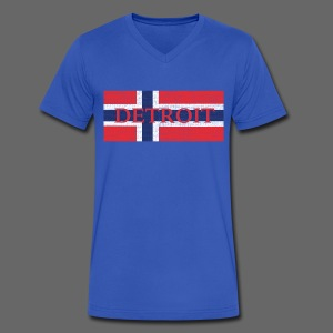 Detroit Norway Flag - Men's V-Neck T-Shirt by Canvas