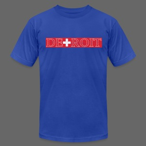Detroit Switzerland Flag - Men's T-Shirt by American Apparel