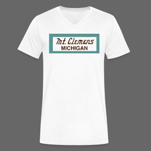 Mt. Clemens - Men's V-Neck T-Shirt by Canvas