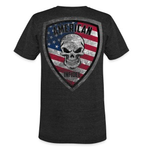 Stars and Stripes Distressed - Unisex Tri-Blend T-Shirt by American Apparel