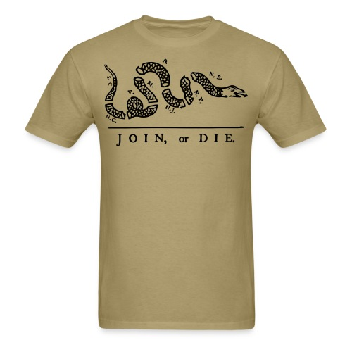 Join or Die - Men's T-Shirt