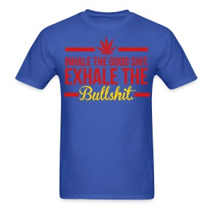 INHALE/EXHALE BLU - Men's T-Shirt