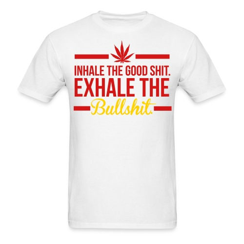 INHALE/EXHALE WHT - Men's T-Shirt