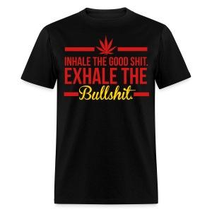 INHALE/EXHALE BLK - Men's T-Shirt