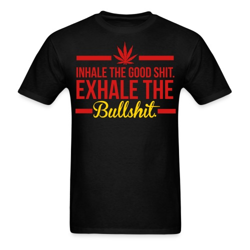 INHALE/EXHALE BLK - Men's T-Shirt