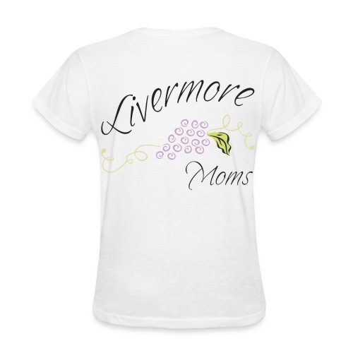 Livermore Moms Womens Tee Shirt Front & Back Logo - Women's T-Shirt