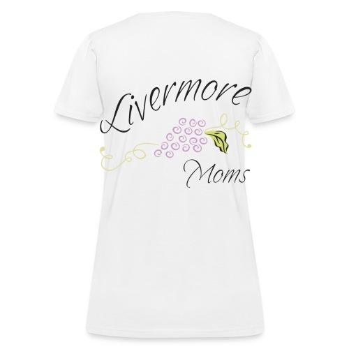 Livermore Moms Womens Tee Shirt Front & Back Logo - Women's T-Shirt