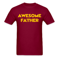 T-Shirts ~ Men's T-Shirt ~ Awesome Father (Redskins)