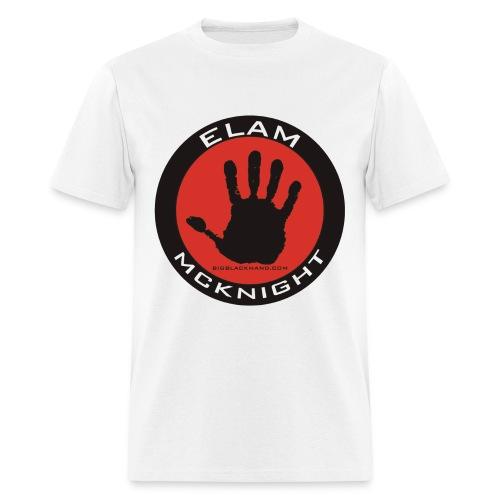 Elam Logo on White T 100% Pre Shrunk Cotton - Men's T-Shirt