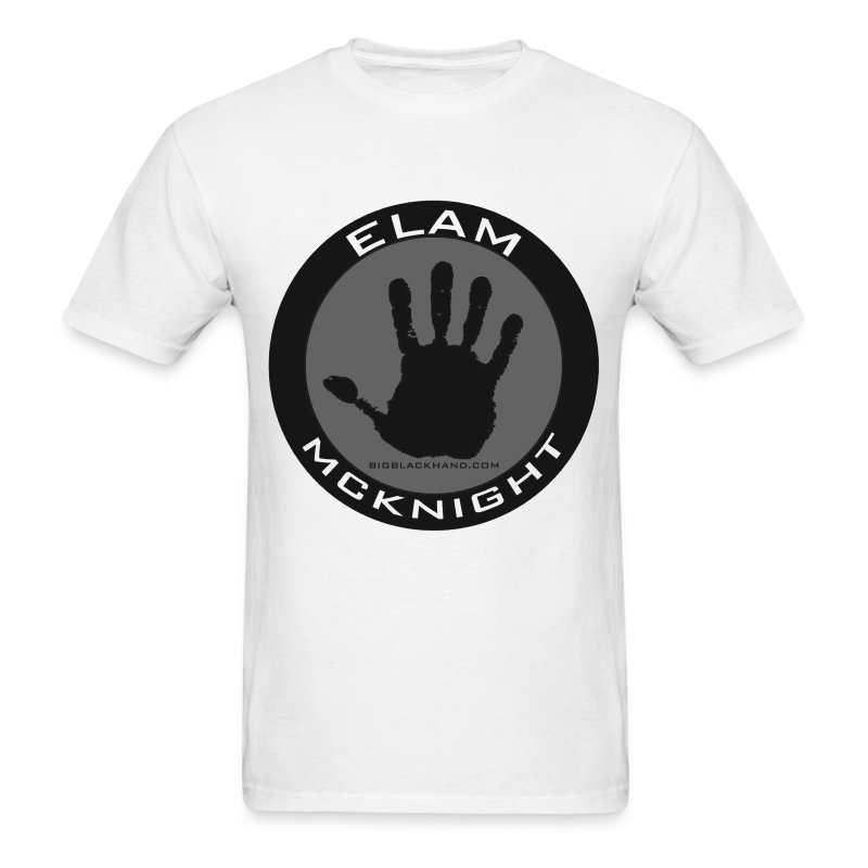 Elam Logo on White T 100% Pre Shrunk Cotton - Men's T-Shirt