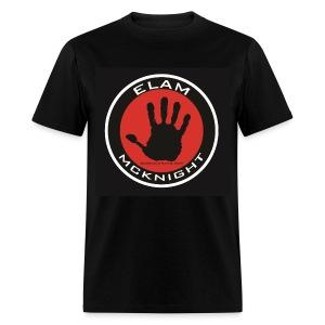 Elam McKnight Logo T on Black 100% Pre Shrunk Cotton - Men's T-Shirt