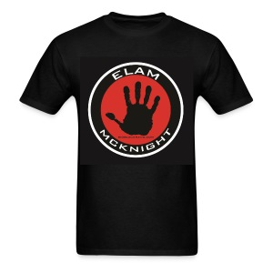 Elam McKnight Logo T on Black 100% Pre Shrunk Cotton - Men's T-Shirt