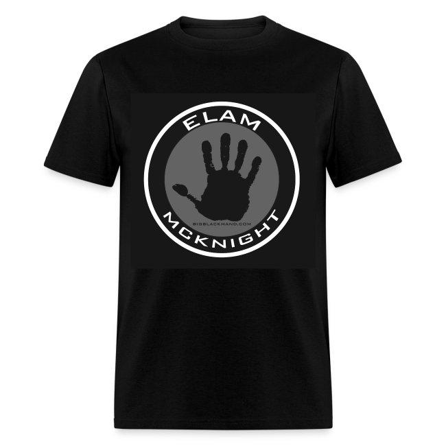 Elam McKnight Logo T on Black 100% Pre Shrunk Cotton