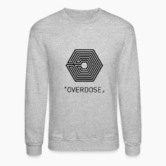 EXO Overdose ENG Black Long Sleeve Shirts
