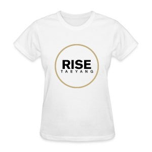 Rise - Bigbang Taeyang - Black, Gold halo - Women's T-Shirt