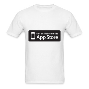 Not available on the App Store - Black - Men's T-Shirt