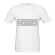 T-Shirts ~ Men's T-Shirt ~ Not available on the App Store - Grey