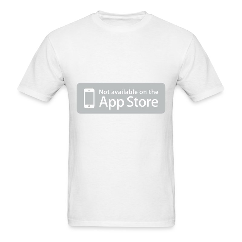 Not available on the App Store - Grey - Men's T-Shirt