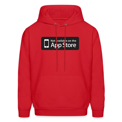 Not available on the App Store - Black - Men's Hoodie